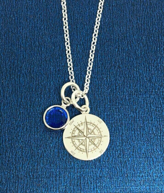 Birthday Gift Graduation Gift Compass jewelry Silver Compass Sterling Silver Compass Necklace Uk shop Compass Charm Compass Necklace