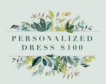 Personalized Dress