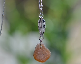 California Genuine Seaglass Long Necklace