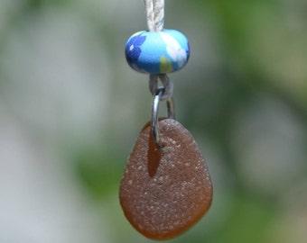 California Genuine Brown Seaglass Necklace