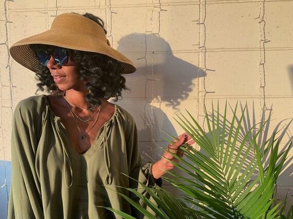 Womens Straw Sun Visor OSFA