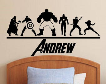More colors. The Avengers Wall Decal ...  sc 1 st  Etsy & Avengers wall decal | Etsy
