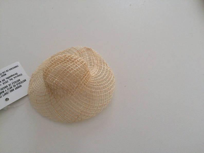 sinamay doll hat Set of 6 miniature hats cute doll hat natural sinamay miniature hat