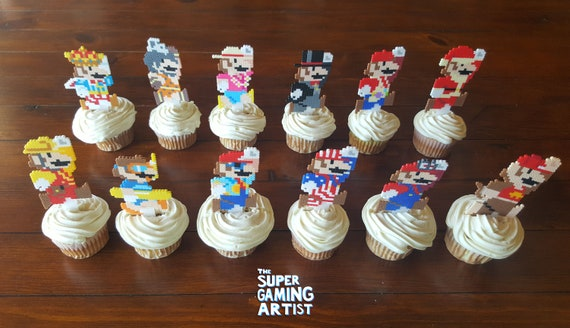 Super Mario Odyssey Cupcake Toppers Super Mario Cupcake Etsy