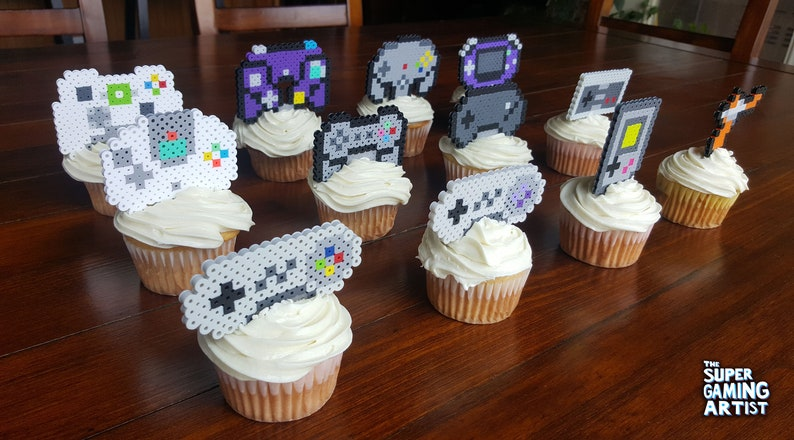 Video Game Controllers Handhelds Cupcake Toppers Video Game Etsy