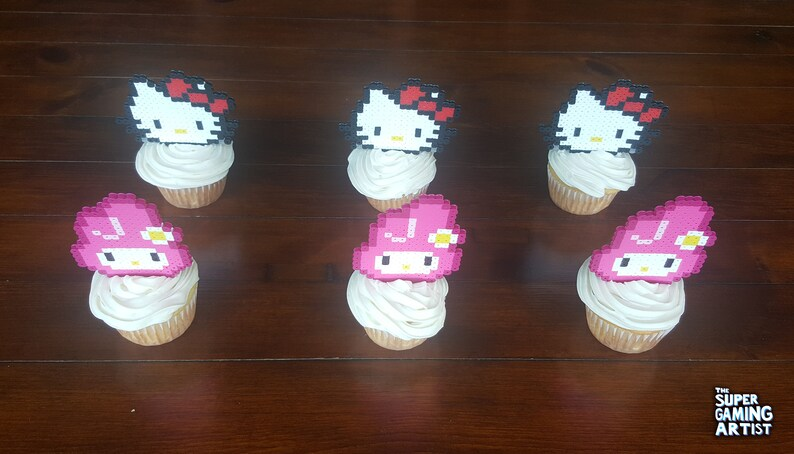 My 4jq5rl3a Melodyetsy Cupcake Hello Kitty Toppers wPOn0k