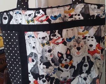Whimsical Dog Bag with 6 inside pockets