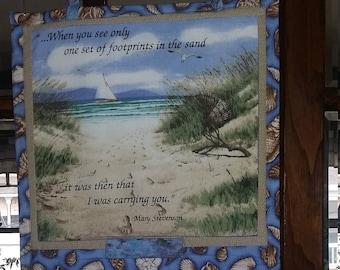 Footprints in the Sand Calendar Holder
