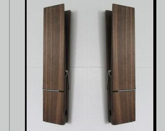 """Jumbo clothespin 12"""" Bathroom Towel Holder, clothespin, farmhouse bathroom decor, laundry room decor, nursery decor, towel hook 9"""" 6"""""""