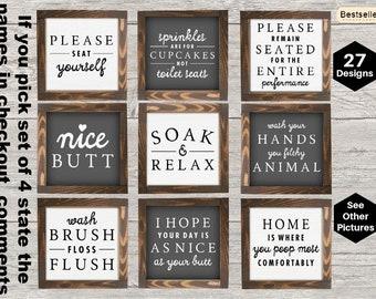 The Bathroom Collection | Funny Bathroom Sign | Bathroom Wall Decor | Restroom Bathroom Decor | Boho Farmhouse Bathroom Sign | Kids Bathroom