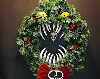nightmare before christmas holiday wreath