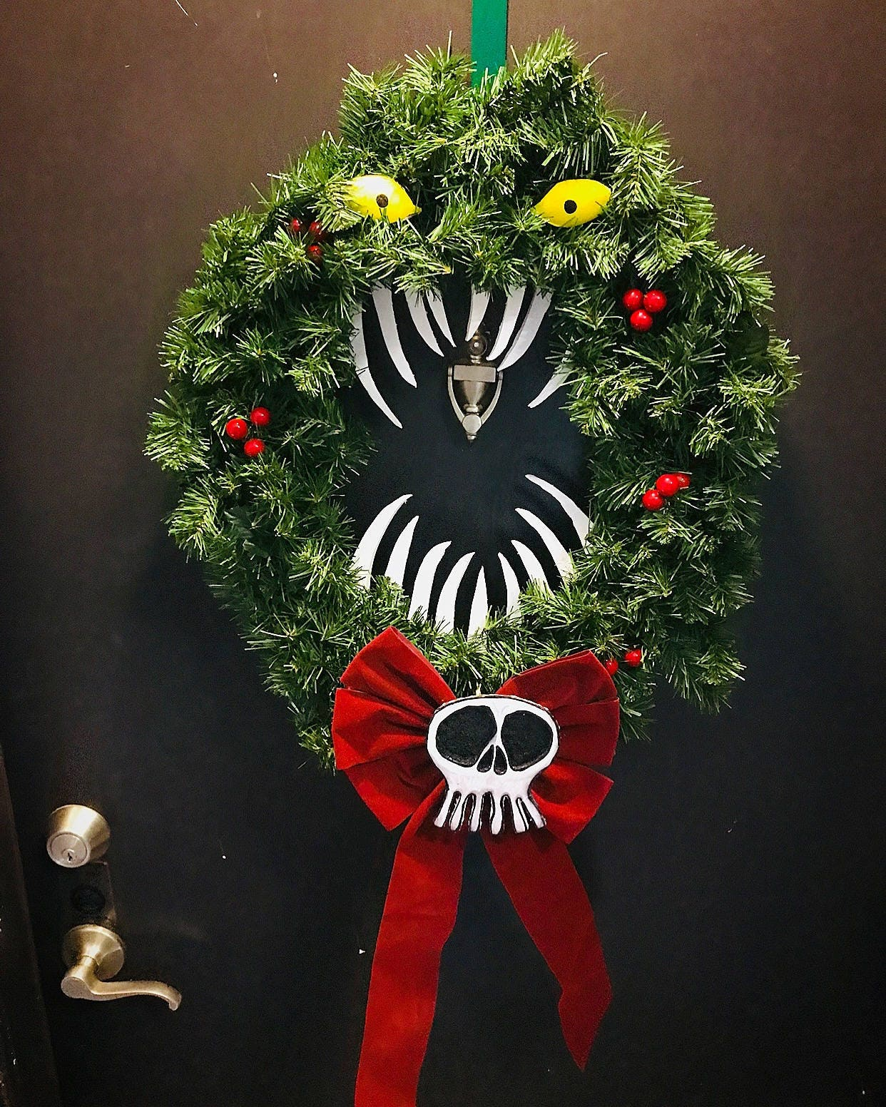 Nightmare Before Christmas Holiday Wreath | Etsy