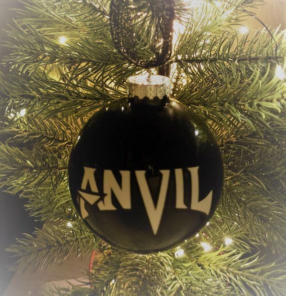 Heavy Metal Christmas.Anvil Heavy Metal Christmas Tree Ornament