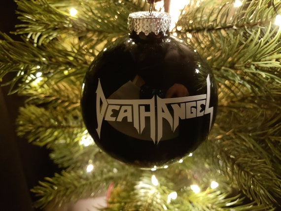 Metal Christmas Tree.Death Angel Heavy Metal Christmas Tree Ornament