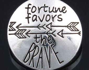 Fortune Favors the Brave Snap Jewelry with Arrows 18mm Fits Ginger Snaps & Magnolia Snap