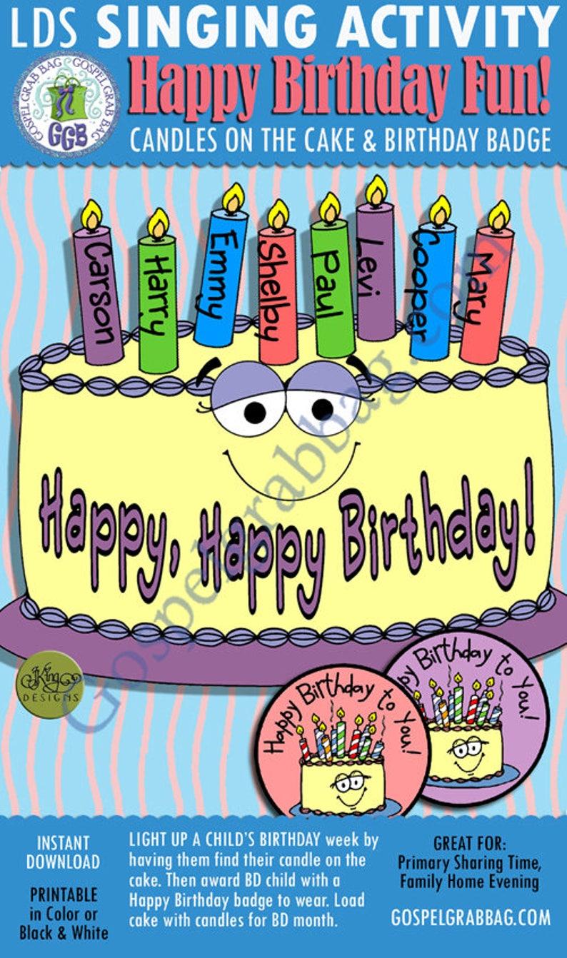 Primary Music Singing Activity Happy Birthday Light