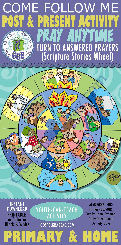 PRAYER Activity: Turn to Answered Prayers (Scripture Stories Wheel)