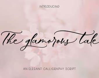 Luxury Script Romantic Wedding Font Calligraphy Elegant Cursive Invitation Logo