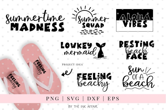Summer quotes SVG bundle, funny, beachy, summer, seasons, sun, aloha vibes,  cricut, silhouette, smooth, mermaid, summer squad, bold, playful