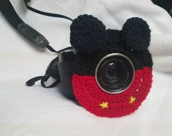 Mickey mouse inspired-camera lens buddy-photo prop-photography-crochet-kids photography