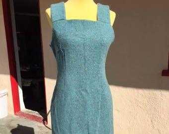 60's wool wiggle dress
