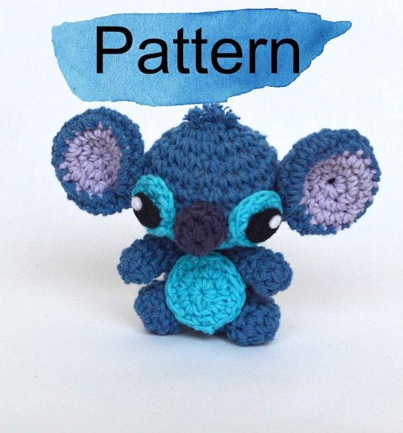 Stitch mini amigurumi crochet doll PATTERN. Lilo and Stitch | Etsy
