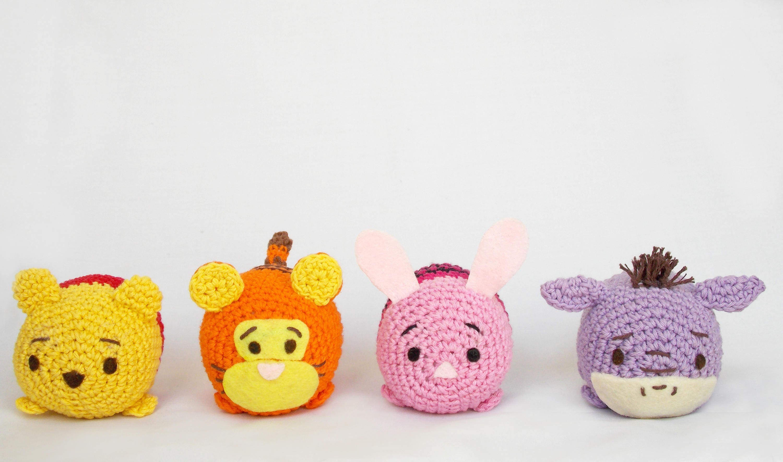 Tsum tsum Disney amigurumi pattern Pooh Piglet Eeyore | Etsy