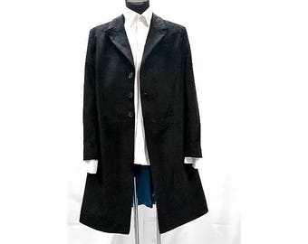 4ca3d975ab 12th doctors black velvet frock coat