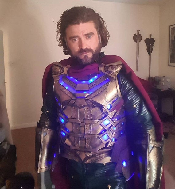 Mysterio cosplay chest armour with cloak and clasps made to order