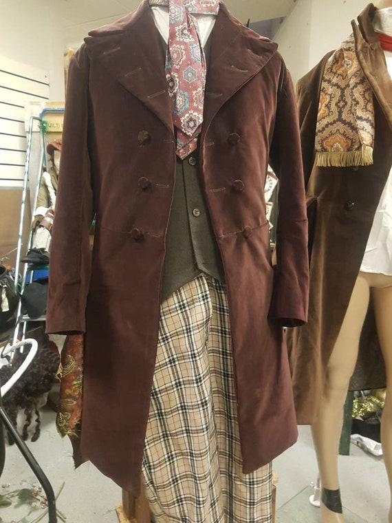 4th doctors brown velvet frock coat tom baker