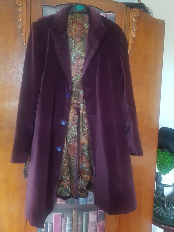Steampunk purple frock coat