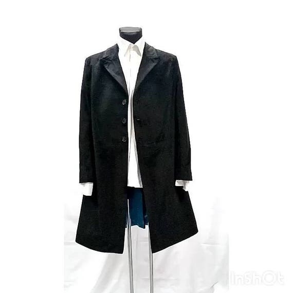 12th doctors black velvet frock coat