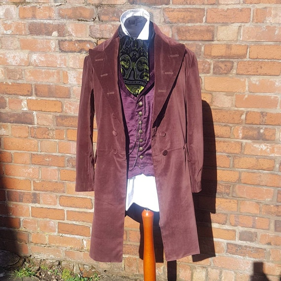 4th doctors brown velvet frock coat tom baker