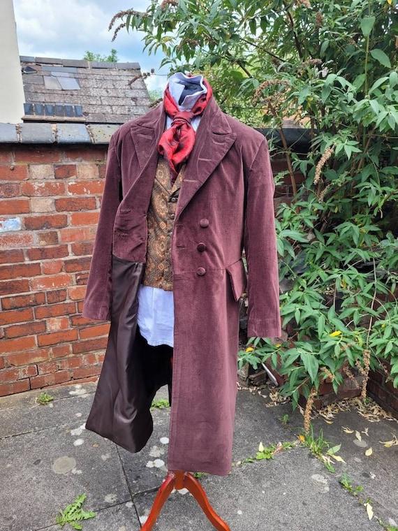 4th doctors long brown velvet frock coat tom baker