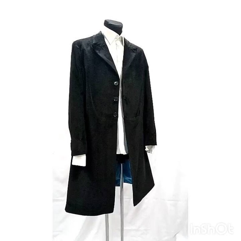 cccdef5fa05f 12th doctors black velvet frock coat | Etsy