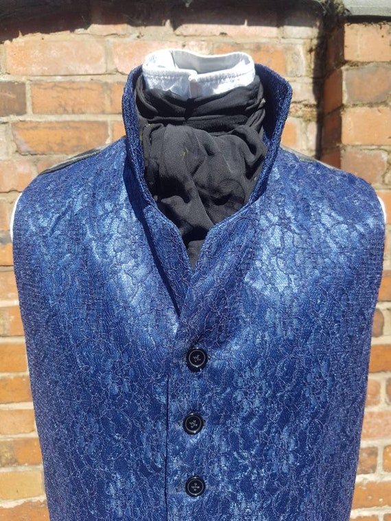 Peter capaldi dr who inspired thin ice regency blue steampunk waistcoat dr who cosplay
