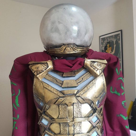Mysterio chest armour with detachable cloak and clasps