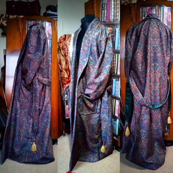 victorian style paisley dressing gown