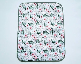 Flowers - Baby Change Mat - Travel Change Pad - Waterproof Change Mat