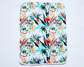 Tropical Flowers - Baby Change Mat  - Travel Change Pad  - Waterproof Change Mat