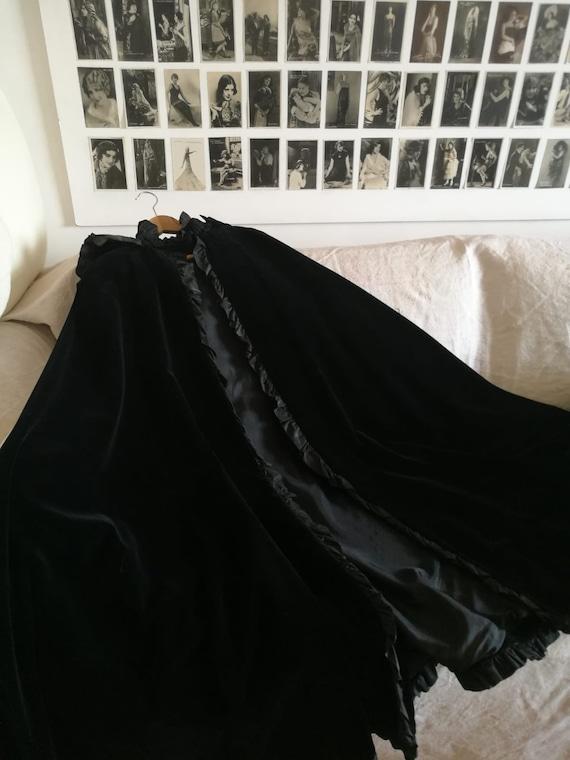 Vintage velvet cape/CAPPA velvet vintage