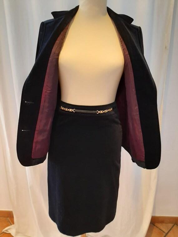 CELINE vintage velvet suit