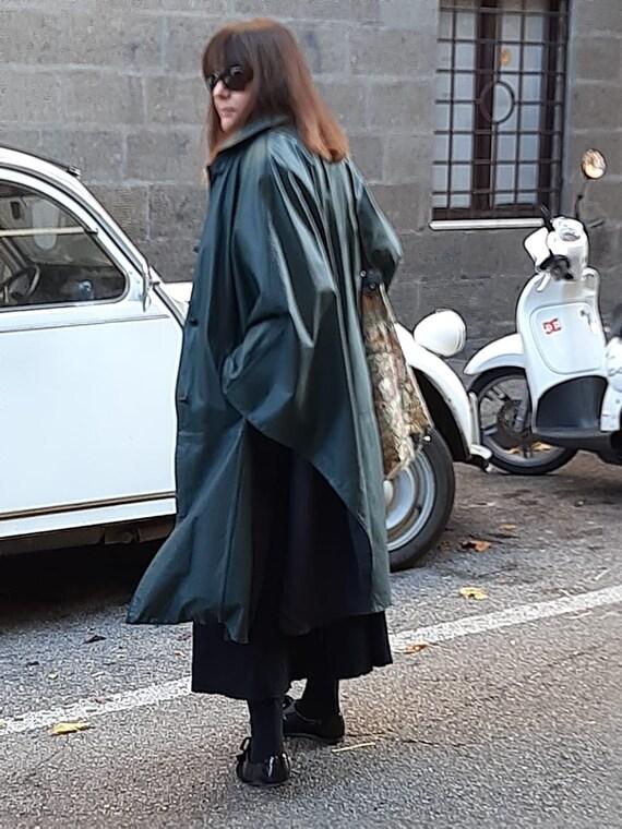 Valentino vintage leather cape