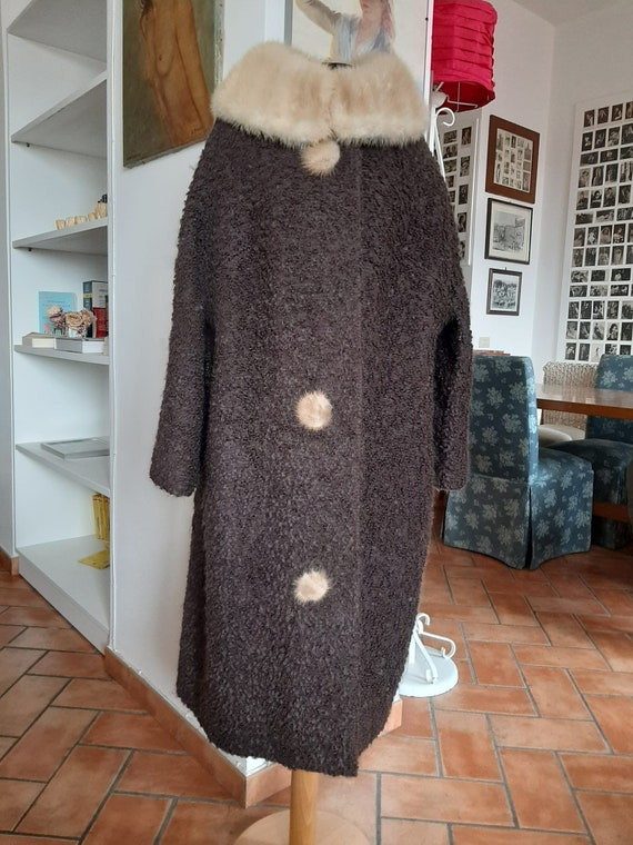 Vintage bouclé wool coat