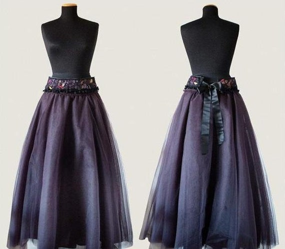 Tulle skirt plum colored