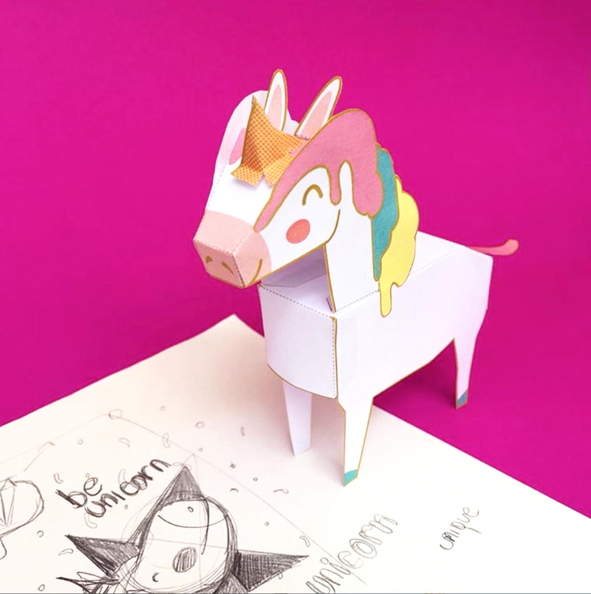 Diy Unicorn Papercraft Printable Download Diy Party Decorations Amp Kids Toys From