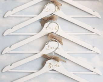 Personalised Wedding Hanger With Bridal Party Name or Role