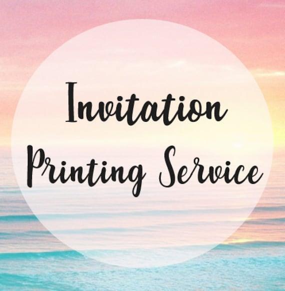 printed invitations printing service cheap invitation etsy