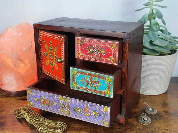 Hand Painted Wooden Jewellery Box | Jewellery Ches