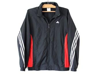 6352b27e0a5e Black Red White Adidas Windbreaker